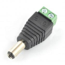 Wtyk DC 5.5 x 2.1 mm z szybkozłączem