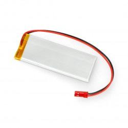 Akumulator Li-Pol Akyga 3,7V 1S 1050mAh konektor+gniazdo 2,54 JST - 2 piny - (78x30x4,3mm)