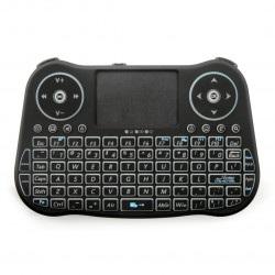 Klawiatura bezprzewodowa + touchpad MT08 - czarna z podświetleniem