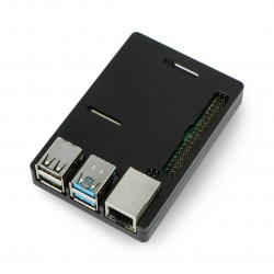 Obudowa N300 do Raspberry Pi 4B - aluminiowa - czarna