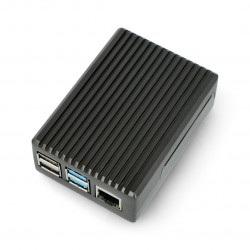 Obudowa Raspberry Pi model 4B - aluminiowa - LT-4BA02 - szara