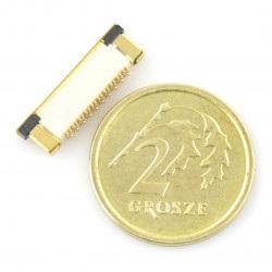 Złącze żeńskie ZIF, FFC/FPC, pionowe 20 pin, raster 0,5 mm