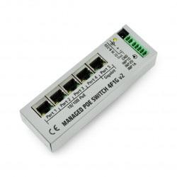 4F1G Switch 4 porty 10/100Mb PoE + 1 port 1Gb - zarządzalny switch