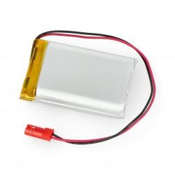 Akumulator Li-Pol Akyga 1850mAh 1S 3,7V - złącze JST-BEC + gniazdo - 40x30x10mm