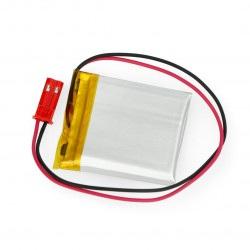 Akumulator Li-Pol Akyga 400mAh 1S 3,7V - złącze JST-BEC + gniazdo - 35x30x4mm