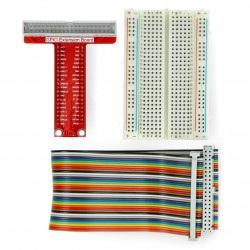 Rozszerzenie GPIO Raspberry Pi 3B+/3B/2B/B+ do płytki stykowej + taśma + płytka stykowa