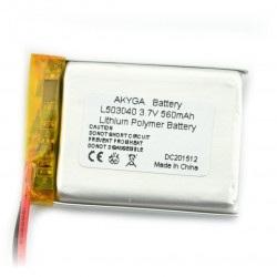 Akumulator Li-Pol Akyga 560mAh 1S 3.7V
