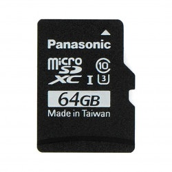 Karta pamięci Panasonic microSD 64GB 40MB/s klasa A1 + system Raspbian dla Raspberry Pi 4B/3B+/3B/2B/Zero