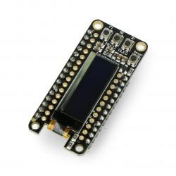 Adafruit FeatherWing wyświetlacz OLED 128x32px - nakładka dla Feather - ze złączami