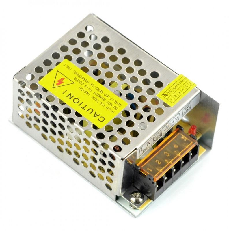 Zasilacz impulsowy przemysłowy do taśm i pasków LED 12V / 2,1A / 25W