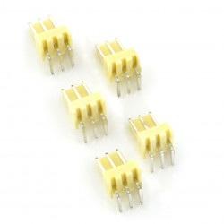 Złącze raster 2,54mm - wtyk kątowy 3-pinowy - 5szt.