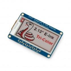 Adafruit E-paper 2,13'' 212x104px - moduł z wyświetlaczem trójkolorowym SPI