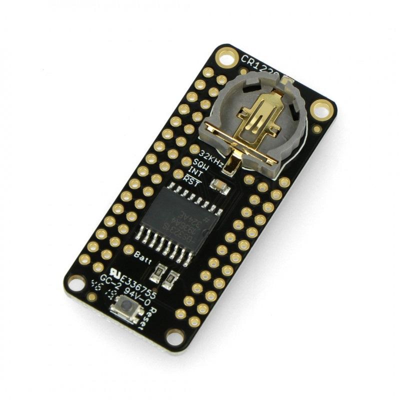 DS3231 Precision RTC FeatherWing - nakładka z zegarem RTC dla Feather