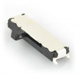 Przełącznik suwakowy SS13C019 3-pozycyjny - leżący