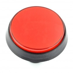 Push Button 6cm - czerwony (wersja eko2)
