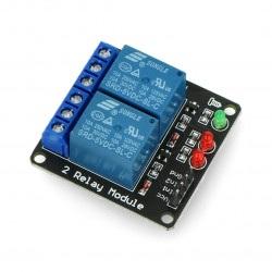 Dwukanałowy moduł przekaźników RM3 5V 10A/125VAC