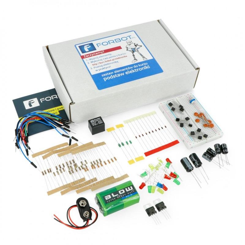 Podstawy elektroniki - zestaw elementów + bezpłatny kurs ON-LINE