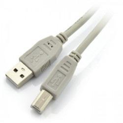 Przewód USB A - B - 1,8 m - szary