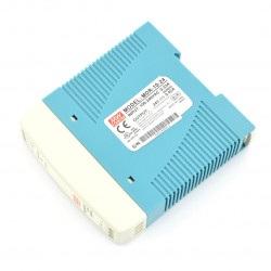 Zasilacz stałonapięciowy Mean Well MDR-10-24 na szynę DIN - 24V/0,42A