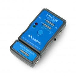 Tester przewodów RJ45/RJ11/RJ12/USB - Lanberg NT-0403