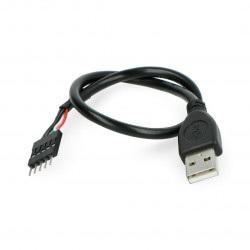 Przewód USB A z wtykiem 1x5 - 0,3 m