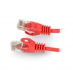 Przewód sieciowy Lanberg Ethernet Patchcord UTP 5e 30m - czerwony