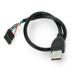 Przewód USB A z gniazdem 1x5 - 0,3 m