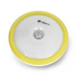 Lampka LED ML7000 z czujnikiem ruchu i zmierzchu z wbudowanym akumulatorem - żółta