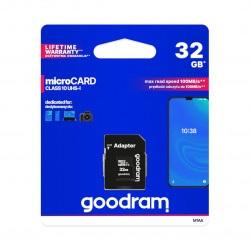Karta pamięci Goodram micro SD / SDHC 32GB UHS-I klasa 10 z adapterem