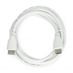 Przewód  HDMI 2.0 - dł. 1m - oficjalny dla Raspberry Pi - biały