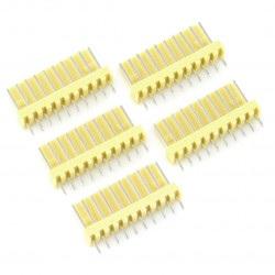Złącze raster 2,54mm - wtyk 10-pinowy - 5szt.