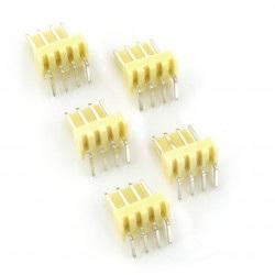 Złącze raster 2,54mm - wtyk kątowy 4-pinowy - 5szt.