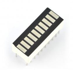 Wyświetlacz LED linijka OSX10201-GGR1 - 10-segmentowy