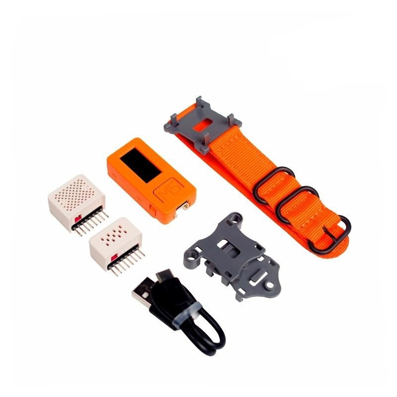 Zestaw smartwatch z modułem deweloperskim M5StickC + nakładki ENV II i SPK Hat