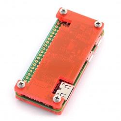 Obudowa Raspberry Pi Zero - Fluo Open - czerwona