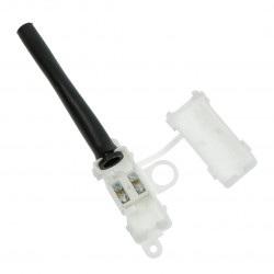 Kostka elektryczna 2pin 10A/250V w obudowie z odgiętką
