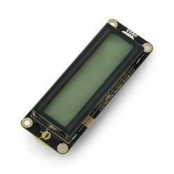 Wyświetlacz LCD 2x16 znaków RGB - Arduino I2C - Gravity