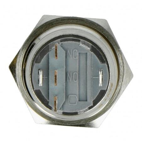 Przełącznik ON-OFF monostabilny - płaski - niebieski - 220V