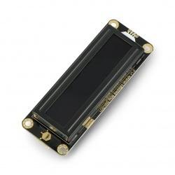 DFRobot Gravity - wyświetlacz LCD 2x16 I2C z podświetleniem RGB - dla Arduino - czarny