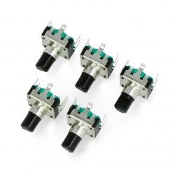 Enkoder z przyciskiem 24 impulsy 15mm - EC12 pionowy