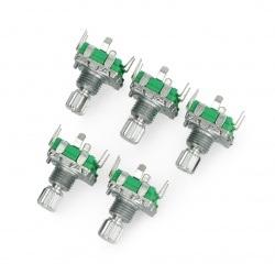 Enkoder z przyciskiem 20 impulsów 12mm - EC11 pionowy