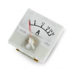 Amperomierz analogowy - panelowy 91C16 mini - 30A