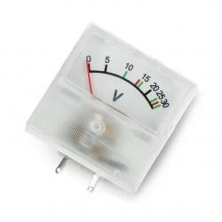 Woltomierz analogowy - panelowy 91C16 mini - 30V DC