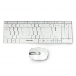 Zestaw bezprzewodowy Esperanza EK122W Liberty USB klawiatura + mysz - biały