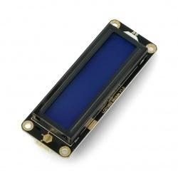 DFRobot Gravity - wyświetlacz LCD 2x16 I2C - niebieski