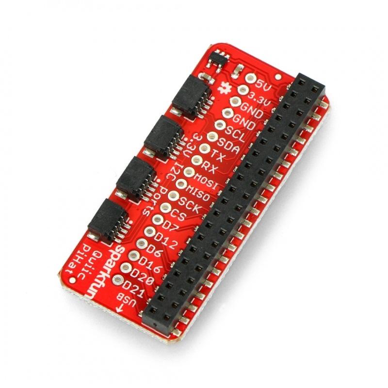 Qwiic nakładka Hat dla Raspberry Pi - SparkFun DEV-14459