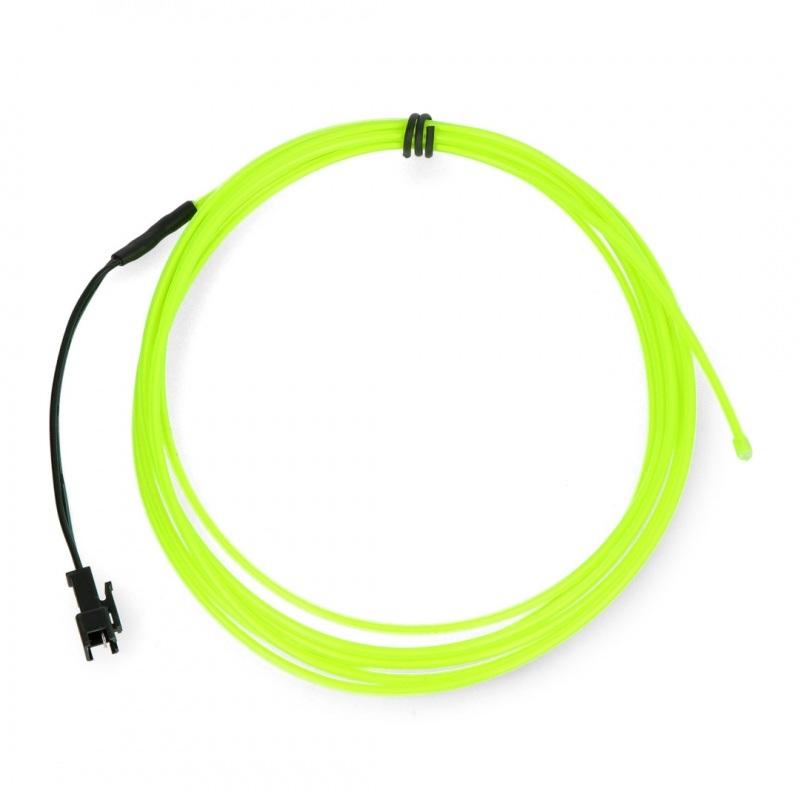 EL Wire - Przewód elektroluminescencyjny 2,5m - zielony