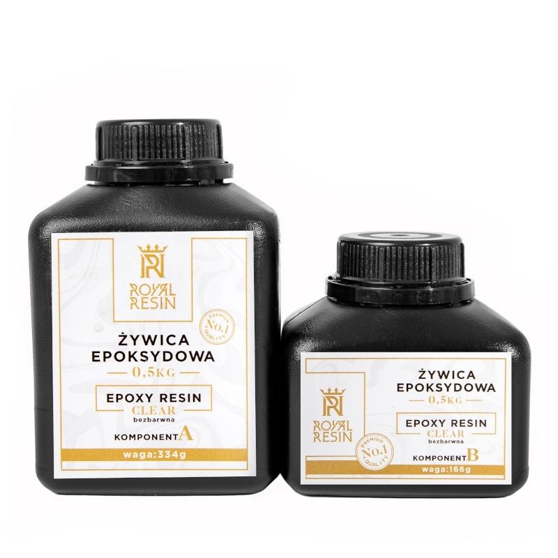 Żywica epoksydowa Royal Resin Clear 0,5kg - do laminowania - bezbarwna