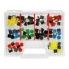 Zestaw przycisków Tact Switch 12x12mm 50szt. - kolorowe nasadki + organizer - zdjęcie 2