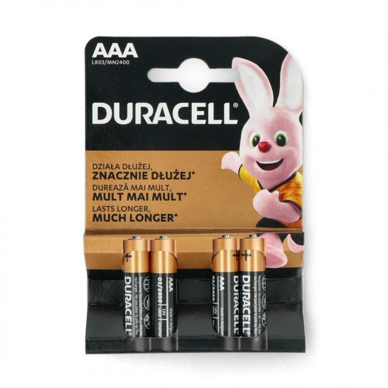 Bateria AAA (R3 LR03) alkaliczna Duracell Duralock - 4szt.
